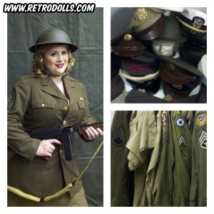 Retrodolls WWII Army Themed Pinup Photo Shoot Day