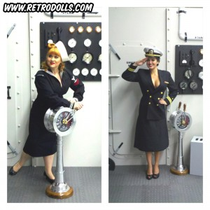 Retrodolls WWII Navy themed pinup shoot day
