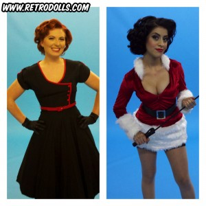 Retrodolls Holiday Themed Pinup Shoot Day