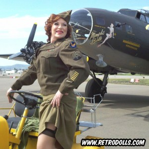 Memphis Belle B-17 WWII Pinup Shoot