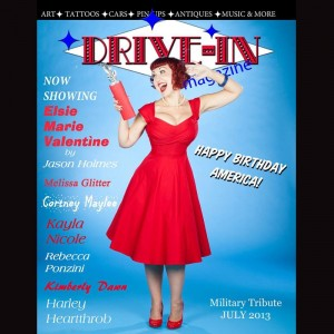 Elsie Marie Drive In Magazine Cover Shoot
